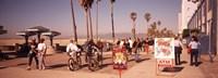 People Walking On The Sidewalk, Venice, Los Angeles, California, USA Fine-Art Print