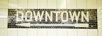 USA, New York City, subway sign Fine-Art Print