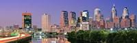 Philadelphia, Pennsylvania Skyline at Night Fine-Art Print