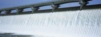 USA, Ohio, Columbus, Big Walnut Creek, Low angle view of a Dam Fine-Art Print