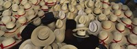 High Angle View Of Hats In A Market Stall, San Francisco El Alto, Guatemala Fine-Art Print