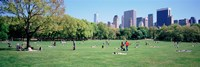 Group Of People In A Park, Sheep Meadow, Central Park, NYC, New York City, New York State, USA Fine-Art Print