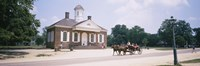 Carriage moving on a road, Colonial Williamsburg, Williamsburg, Virginia, USA Fine-Art Print