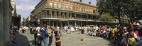 Tourists in front of a building, New Orleans, Louisiana, USA Fine-Art Print