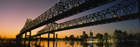 Low angle view of a bridge across a river, New Orleans, Louisiana, USA Fine-Art Print