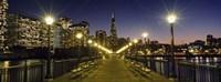 Buildings lit up at night, Transamerica Pyramid, San Francisco, California, USA Fine-Art Print