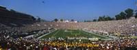 High angle view of a football stadium full of spectators, The Rose Bowl, Pasadena, City of Los Angeles, California, USA Fine-Art Print