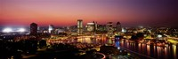 Baltimore with Pink Sky at Dusk Fine-Art Print
