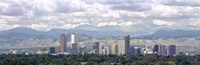 Clouds over skyline and mountains, Denver, Colorado, USA Fine-Art Print