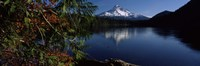 Reflection of a mountain in a lake, Mt Hood, Lost Lake, Mt. Hood National Forest, Hood River County, Oregon, USA Fine-Art Print