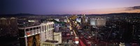 Aerial view of a city, Paris Las Vegas, The Las Vegas Strip, Las Vegas, Nevada, USA Fine-Art Print