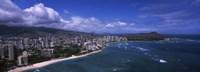 Buildings at the waterfront, Waikiki Beach, Honolulu, Hawaii Fine-Art Print