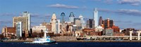 Buildings at the waterfront, Delaware River, Philadelphia, Pennsylvania Fine-Art Print