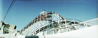 Low angle view of a rollercoaster, Coney Island Cyclone, Coney Island, Brooklyn, New York City, New York State, USA Fine-Art Print