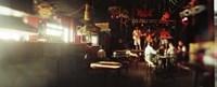 People in a restaurant, Cha Cha Lounge, Coney Island, Brooklyn, New York City, New York State, USA Fine-Art Print