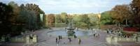 Tourists in a park, Bethesda Fountain, Central Park, Manhattan, New York City, New York State, USA Fine-Art Print
