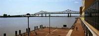 Bridge across a river, Crescent City Connection Bridge, Mississippi River, New Orleans, Louisiana, USA Fine-Art Print