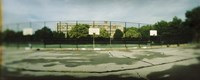 Basketball court in a public park, McCarran Park, Greenpoint, Brooklyn, New York City, New York State, USA Fine-Art Print