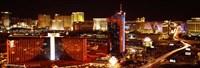 Las Vegas Skyline Lit Up at Night Fine-Art Print