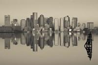 Reflection of buildings in water, Boston, Massachusetts, USA Fine-Art Print
