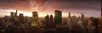 Sunset cityscape Chicago IL USA Fine-Art Print