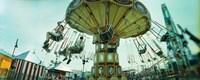 Tourists riding on an amusement park ride, Lynn's Trapeze, Luna Park, Coney Island, Brooklyn, New York City, New York State, USA Fine-Art Print