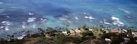 Aerial view of the pacific ocean, Ocean Villas, Honolulu, Oahu, Hawaii, USA Fine-Art Print