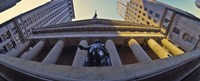 Low angle view of a stock exchange building, New York Stock Exchange, Wall Street, Manhattan, New York City, New York State, USA Fine-Art Print