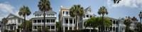Low angle view of houses along a street, Battery Street, Charleston, South Carolina Fine-Art Print