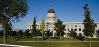 Garden in front of Utah State Capitol Building, Salt Lake City, Utah, USA Fine-Art Print