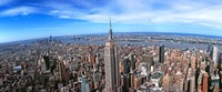 Aerial view of New York City with empire state building, New York State Fine-Art Print