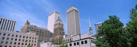 Low angle view of downtown buildings, Tulsa, Oklahoma Fine-Art Print