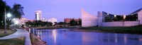 Buildings at the waterfront, Arkansas River, Wichita, Kansas, USA Fine-Art Print