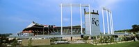 Baseball stadium in a city, Kauffman Stadium, Kansas City, Missouri Fine-Art Print
