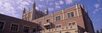 Low angle view of Kerckhoff Hall, University of California, Los Angeles, California, USA Fine-Art Print