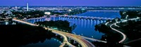 Aerial view of Washington DC and river Fine-Art Print