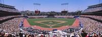 Spectators watching a baseball match, Dodgers vs. Yankees, Dodger Stadium, City of Los Angeles, California, USA Fine-Art Print