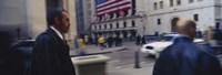 Two people walking, New York Stock Exchange, Wall Street, Times Square, Manhattan, New York City, New York State, USA Fine-Art Print