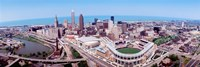 Aerial View Of Jacobs Field, Cleveland, Ohio, USA Fine-Art Print
