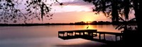Sunrise Over Lake Whippoorwill, Orlando, Florida, USA Fine-Art Print