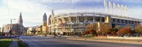 Low angle view of baseball stadium, Jacobs Field, Cleveland, Ohio, USA Fine-Art Print