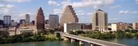 Buildings in a city, Town Lake, Austin, Texas, USA Fine-Art Print