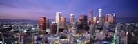 Night, Skyline, Cityscape, Los Angeles, California, USA Fine-Art Print
