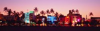 Night, Ocean Drive, Miami Beach, Florida, USA Fine-Art Print