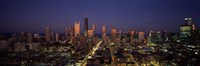 Chicago Skyline at Night Fine-Art Print