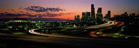 Sunset Puget Sound & Seattle skyline WA USA Fine-Art Print