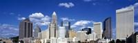 Skyscrapers in a city, Charlotte, Mecklenburg County, North Carolina, USA Fine-Art Print