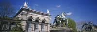 Low angle view of a statue in front of a building, Memorial Hall, Philadelphia, Pennsylvania, USA Fine-Art Print