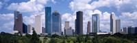 Skyscrapers in a city, Houston, Texas, USA Fine-Art Print