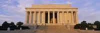 Facade of a memorial building, Lincoln Memorial, Washington DC, USA Fine-Art Print